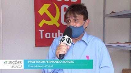 Candidato Professor Fernando Borges (PCdoB) fala sobre a saúde para cidade de Taubaté