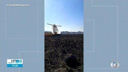 Moradores pedem proibição do uso de retardantes de fogo após uso na Chapada dos Veadeiros