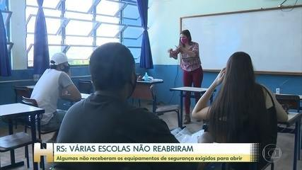 Pernambuco e Rio Grande do Sul retomam, aos poucos, as aulas presenciais