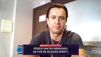 Presidente do Cruzeiro, Sérgio Santos fala sobre a chegada de Felipão à Toca da Raposa