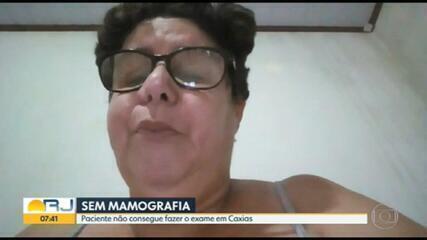 Paciente não consegue fazer mamografia em Duque de Caxias