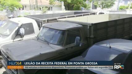 Receita Federal em Ponta Grossa leiloa carros e eletrônicos apreendidos