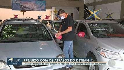 Venda de veículos em Campinas enfrenta atraso de até 6 meses nas documentações do Detran
