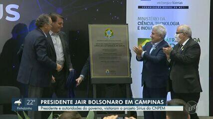 Bolsonaro inaugura linha do Sirius e ministro projeta laboratório nível 4 em Campinas