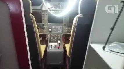 Dono de casa-avião mostra ao G1 interior da aeronave