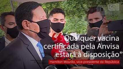 Em outubro, Mourão disse que estados poderiam comprar vacina chinesa: 'têm recurso também'