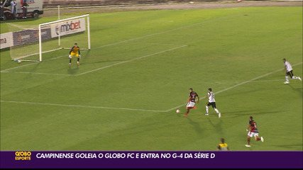 Campinense goleia o Globo FC e salta para o G-4 de sua chave na Série D