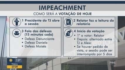 Processo de impeachment: Entenda como será o rito de votação na Alesc