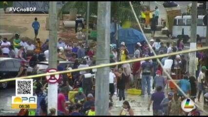 Feirantes do Ver-o-Peso protestam pedindo por segurança na área