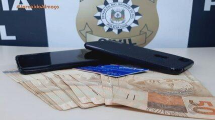Jovem é presa por participação de crime de extorsão, na Região Sul do RS