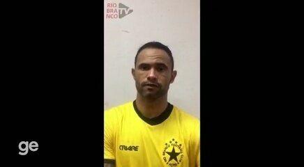 Bruno celebra 1º gol pelo Rio Branco-AC, mas lamenta empate na Série D