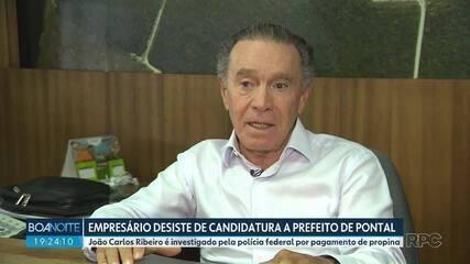 João Carlos Ribeiro desiste da candidatura à prefeitura de Pontal do Paraná