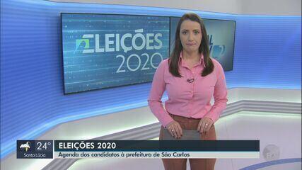 Dia de candidatos a prefeito de São Carlos tem gravações e visita a igreja nesta sexta
