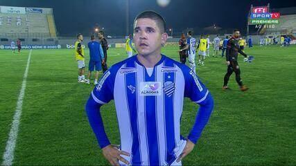 Diego Renan fala sobre o empate com o Brasil de Pelotas fora de casa