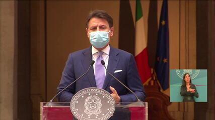 Itália anuncia novas medidas de restrição contra o coronavírus