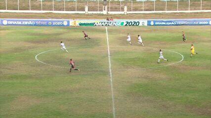 Os gols de Santos-AP 0 x 3 River-PI pela nona rodada da Série D