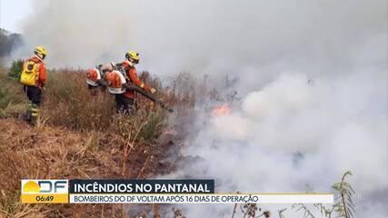 Incêndios no Pantanal: bombeiros voltam ao DF