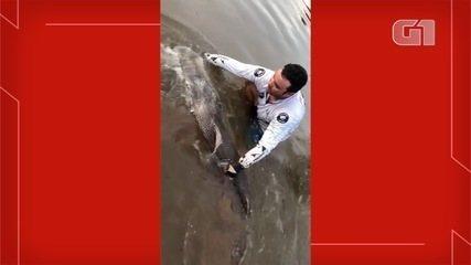 Pescador pegou pintado de 1,72 metro no último sábado (24), em MS