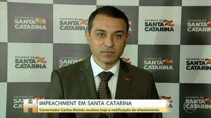 Intimação que formaliza afastamento de governador de SC é entregue a Carlos Moisés