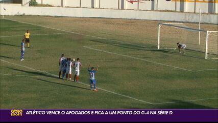 Atlético-PB supera Afogados e volta a vencer na Série D