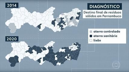 Lixões ainda são usados para depósito de resíduos em 71 dos 184 municípios de Pernambuco