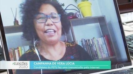 Vera Lúcia participou de um evento online