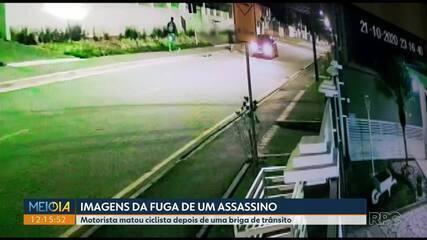 Imagens mostram rota de fuga do motorista que baleou ciclista depois de uma briga