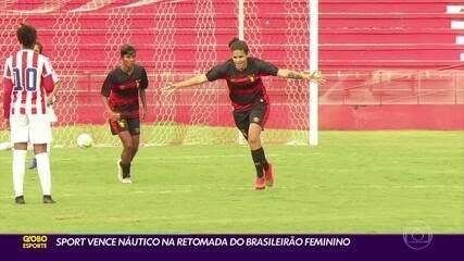 Sport vence o Náutico na estreia da Série A2 do Brasileiro feminino; imagens de Raí Oliveira