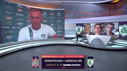 Lisca projeta confronto do América-MG contra o Corinthians na Copa do Brasil