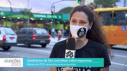 Candidata Marina do PSOL (PSOL) fala sobre segurança para cidade de São José