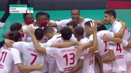 Os pontos decisivos de Tijuca 3 x 0 Flamengo, pela final do Campeonato Carioca de Vôlei Masculino