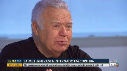 Jaime Lerner é internado em Hospital de Curitiba