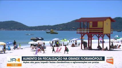 Aumenta fiscalização para impedir festas e aglomerações em praias na Grande Florianópolis