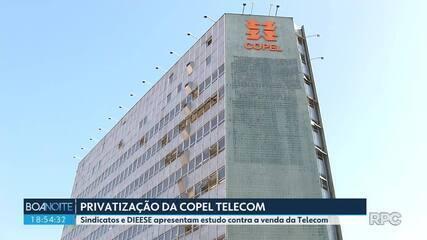 Dieese e sindicatos apresentam estudo contra privatização da Copel Telecom