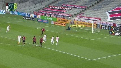 Veja as defesas de Hugo, na vitória do Flamengo sobre o Athletico-PR, pela Copa do Brasil