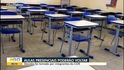COE decide que aulas nas redes pública e privada podem ser retomadas, em Goiás