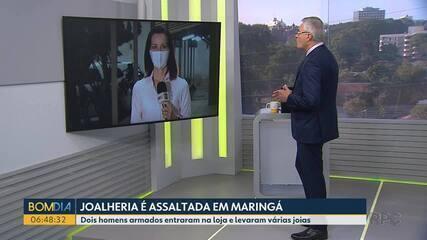 Joalheria é assaltada em Maringá