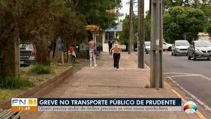 Trabalhadores da Prudente Urbano entram em greve após atraso do vale-alimentação