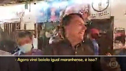 Bolsonaro faz piada com refrigerante cor-de-rosa do Maranhão e recebe críticas