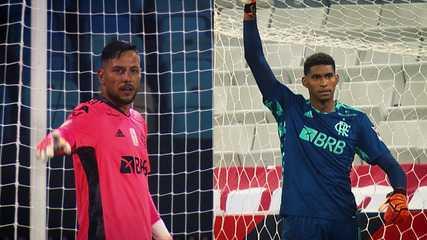 Confira os números de Diego Alves e Hugo Souza na temporada