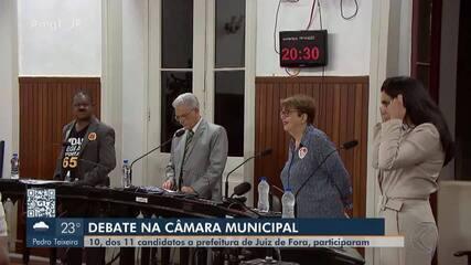 Primeiro debate à Prefeitura de Juiz de Fora reúne 10 candidatos