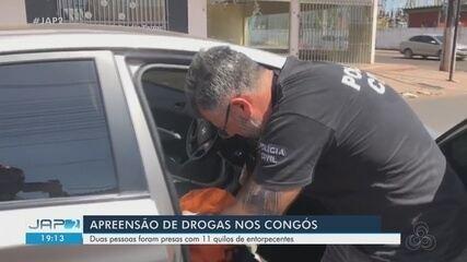 Polícia prende dupla e acha 11 quilos de cocaína e crack em bar e dentro de carro