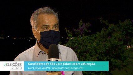 Candidato Luiz Carlos (PTC) fala sobre educação