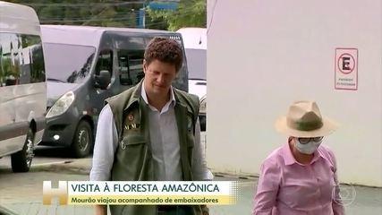 Mourão inicia viagem com embaixadores à Amazônia