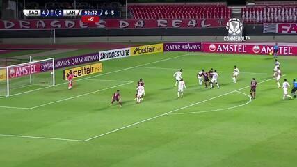 Os gols de São Paulo 4 x 3 Lanús, pela Copa Sul-Americana