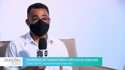 Candidato Dodô (PTC) fala sobre novas empresas para cidade de Taubaté