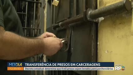 Decreto estadual determina que 4 mil presos em carceragens sejam transferidos