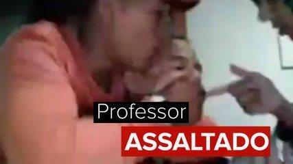 Professor é assaltado durante aula online