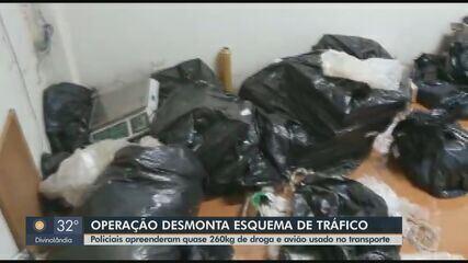 Dise apreende quase 260 kg de drogas e aeronave e prende dois homens em Rio Pardo