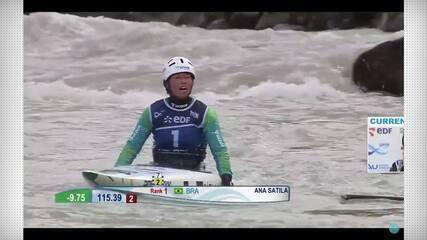Ana Sátila é campeã da Copa do Mundo de canoagem slalom